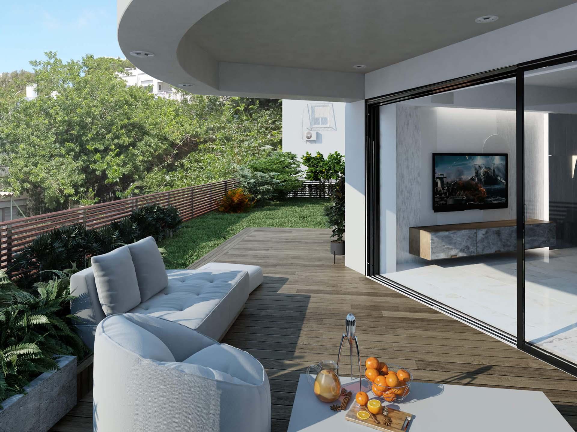 דירה 1 הגינה