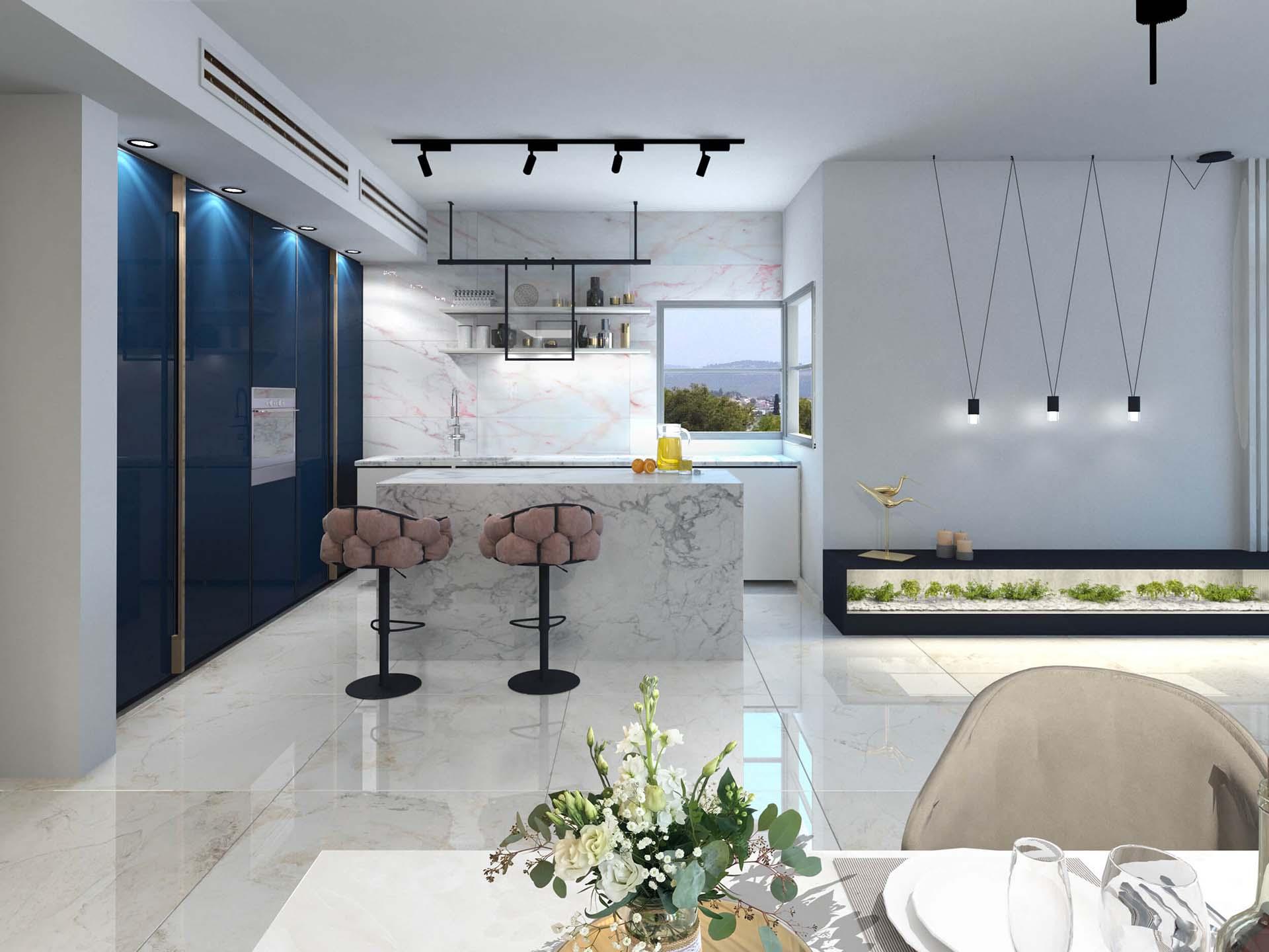 דירה 11 מבט למטבח)